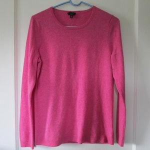 Talbots pure cashmere pink sweater basic crew neck